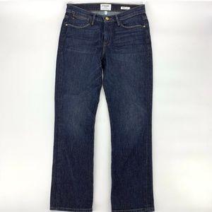 Frame Denim Le High Straight Jeans Dark Wash